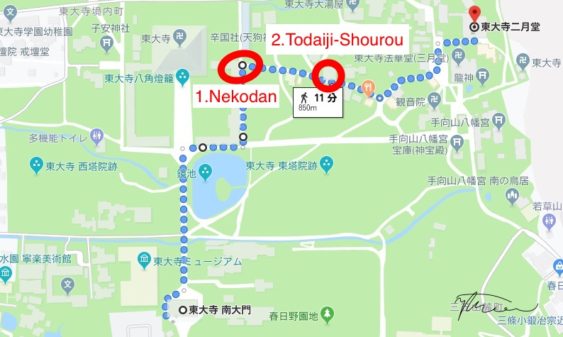 My recommend route to Nigatsudo.